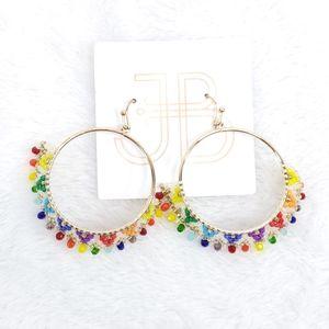 JB Rainbow Pride Boho Beaded Earrings